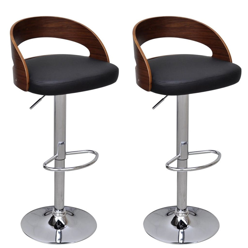 Bar Stools 2 pcs Bent Wood