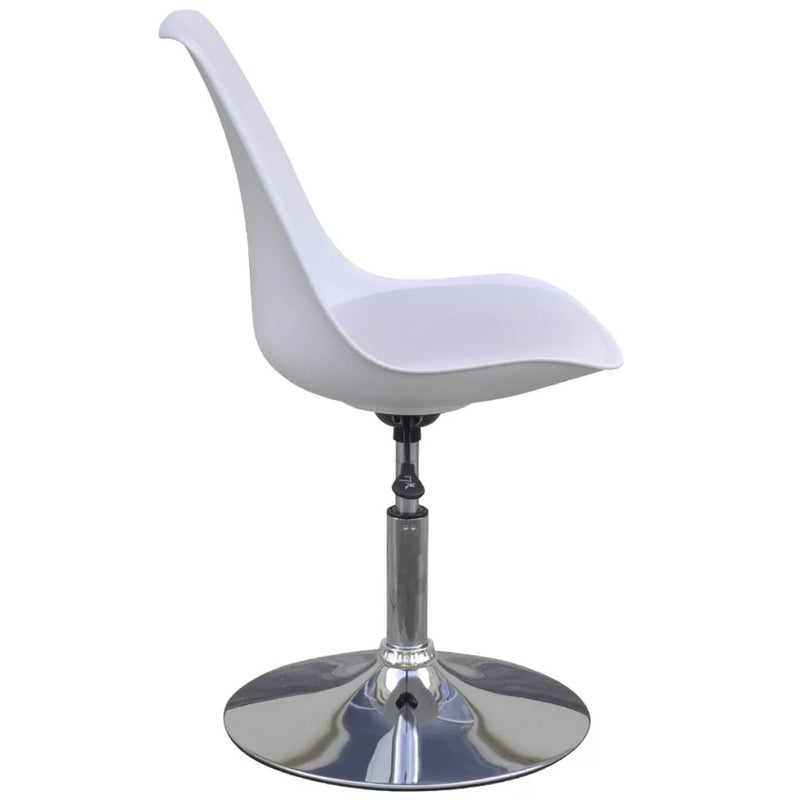 Swivel Dining Chairs 4 pcs White Faux Leather