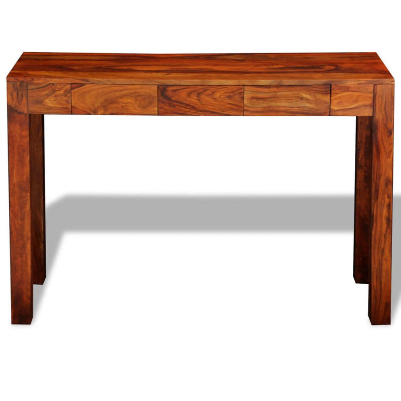 Console Table with 3 Drawers 80 cm Solid Sheesham Wood