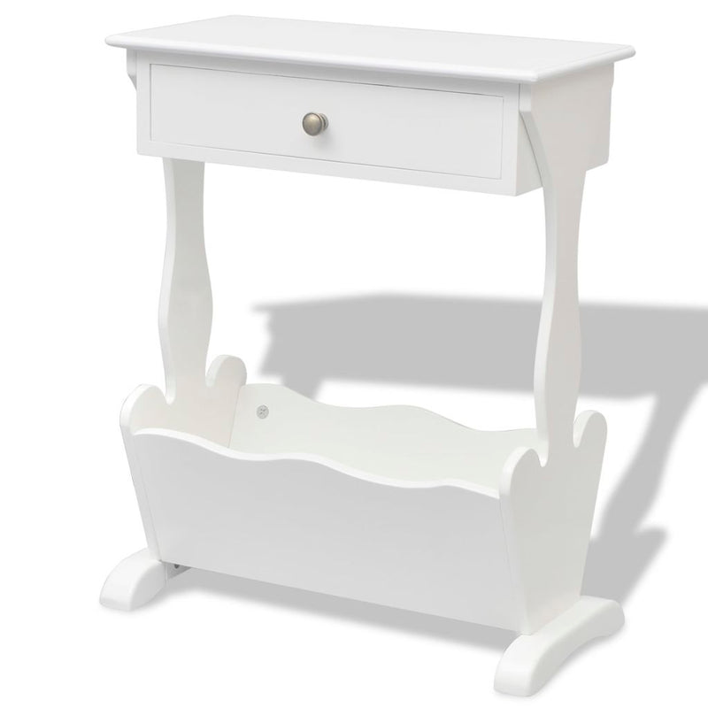 "Magazine Rack ""Melrose"" White"