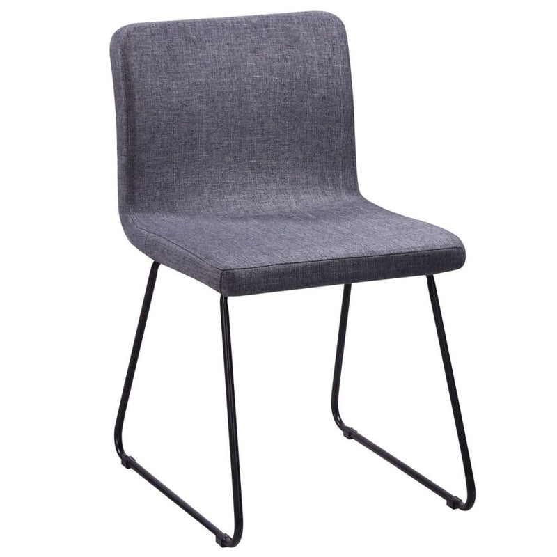 Dining Chairs 6 pcs Dark Grey Fabric