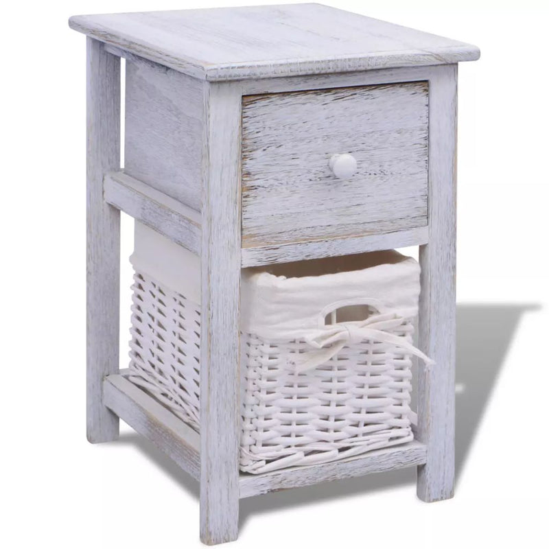 Bedside Cabinet Wood White
