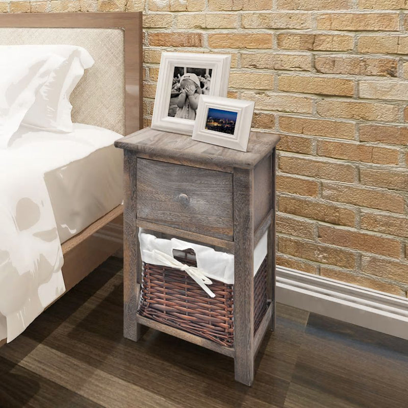 Bedside Cabinet Wood Brown