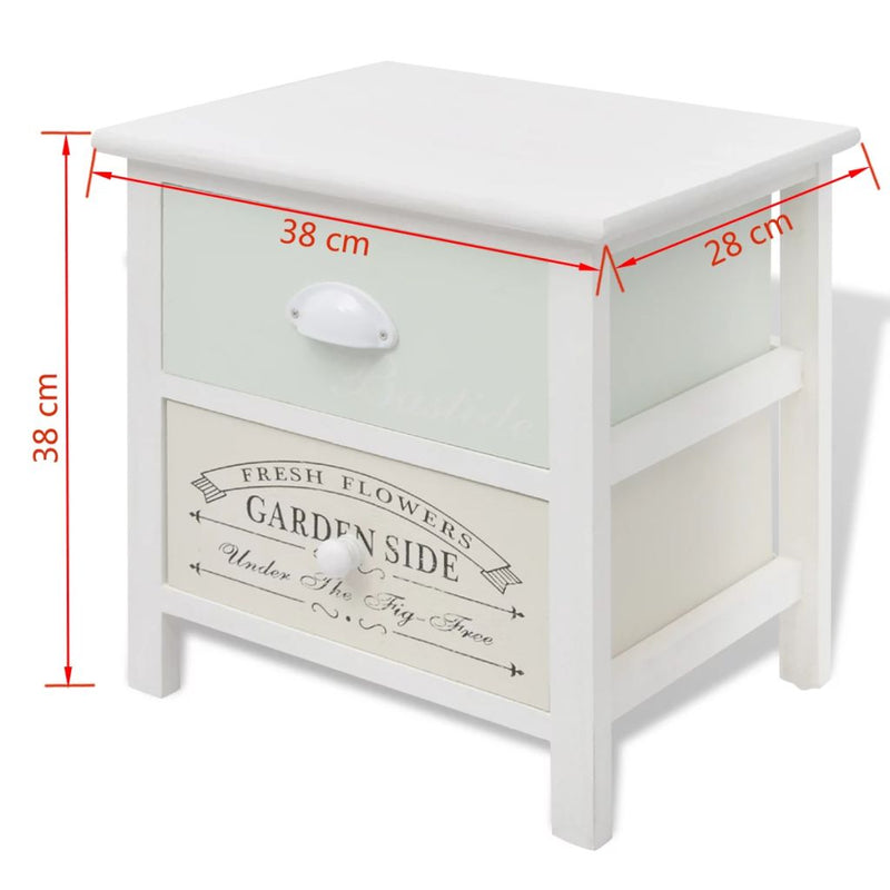 French Bedside Cabinets 2 pcs Wood