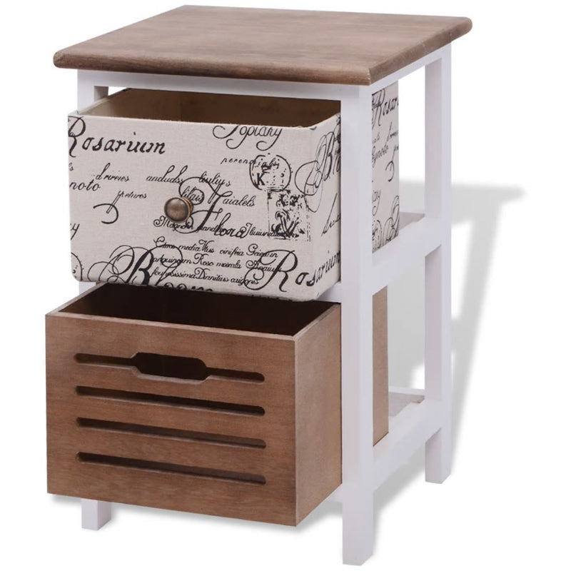 Bedside Cabinets 2 pcs Wood