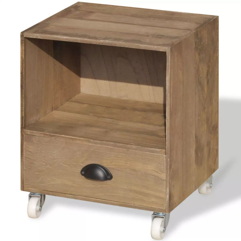 Nightstand 2 pcs Brown Solid Wood