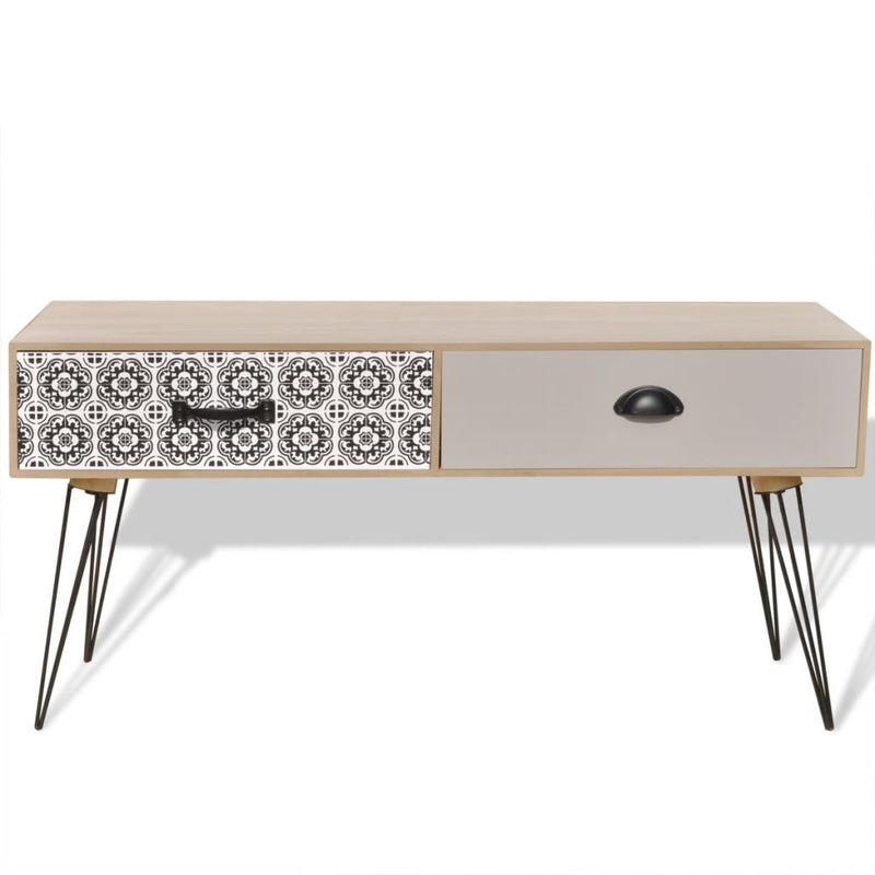 TV Side Table 100x40x35 cm Brown