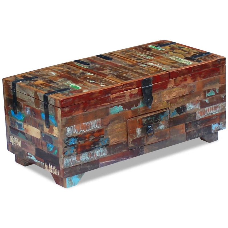 Coffee Table Box Chest Solid Reclaimed Wood 80x40x35 cm