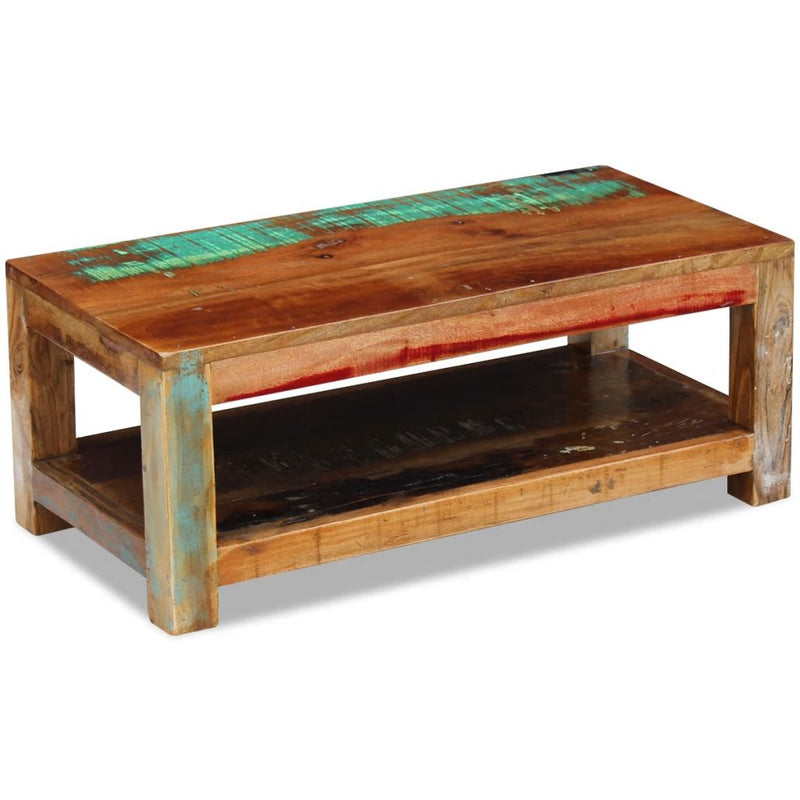 Coffee Table Solid Reclaimed Wood 90x45x35 cm