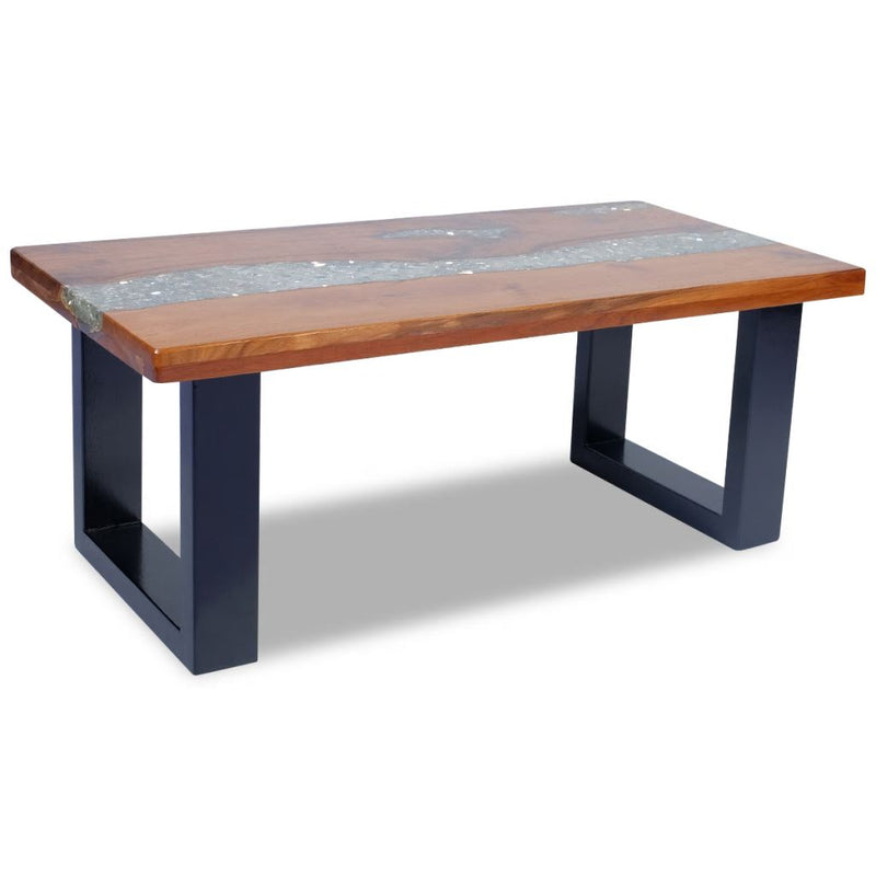 Coffee Table Teak Resin 100x50 cm