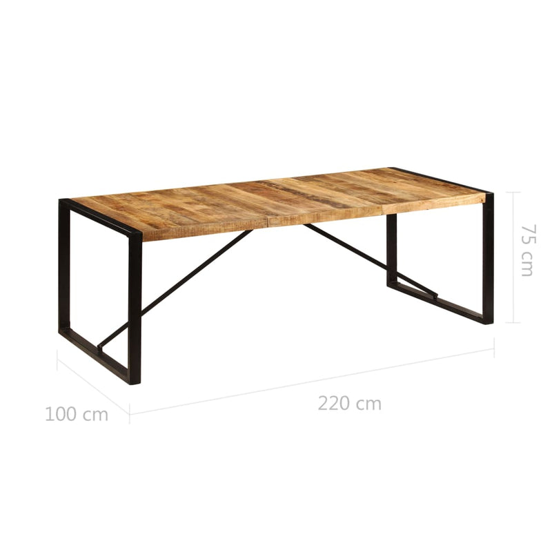 Dining Table 220x100x75 cm Solid Mango Wood
