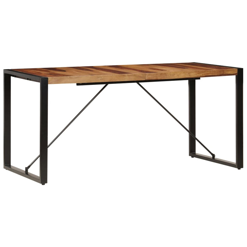 Dining Table 160x80x75 cm Solid Sheesham Wood