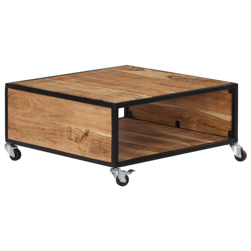 Coffee Table 70x70x32 cm Solid Acacia Wood