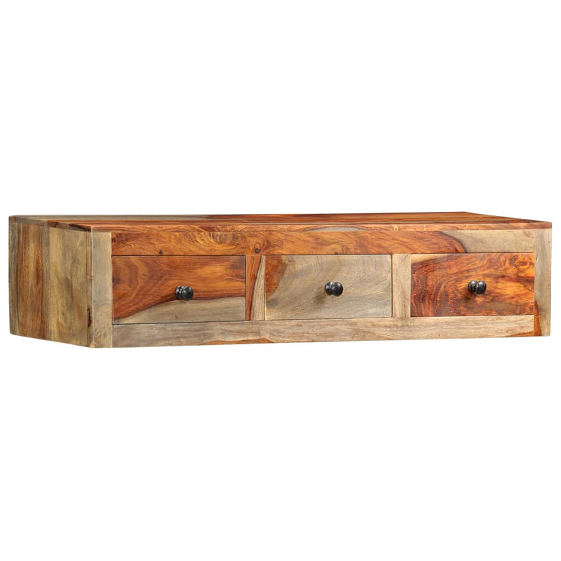 Wall Console Table 100x25x20 cm Solid Sheesham Wood