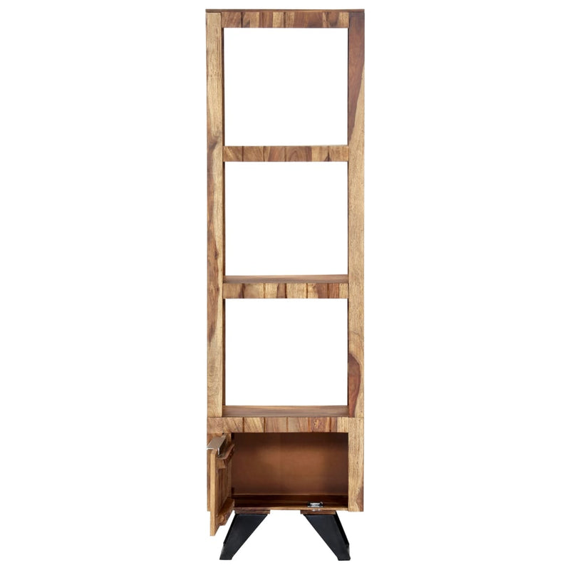 Highboard 45x28x180 cm Solid Sheesham Wood
