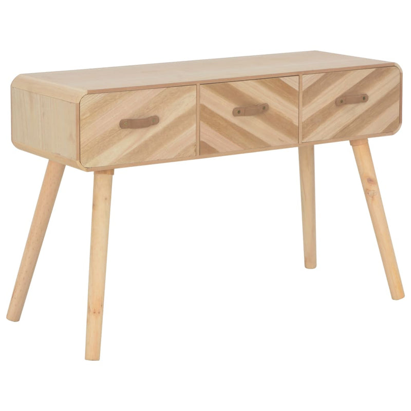 Console Table 100x35x68 cm Solid Wood