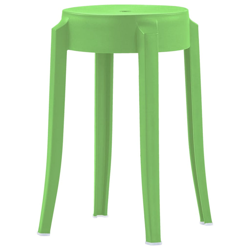 Stackable Stools 4 pcs Multicolour Plastic