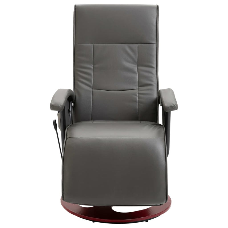 Massage Chair Grey Faux Leather