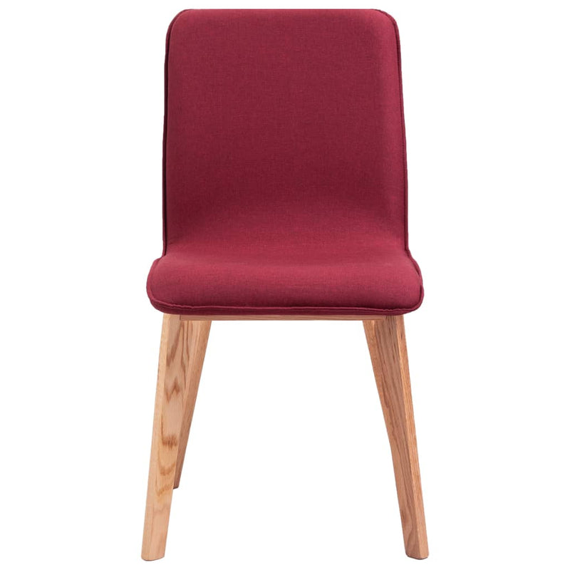 Dining Chairs 4 pcs Red Fabric