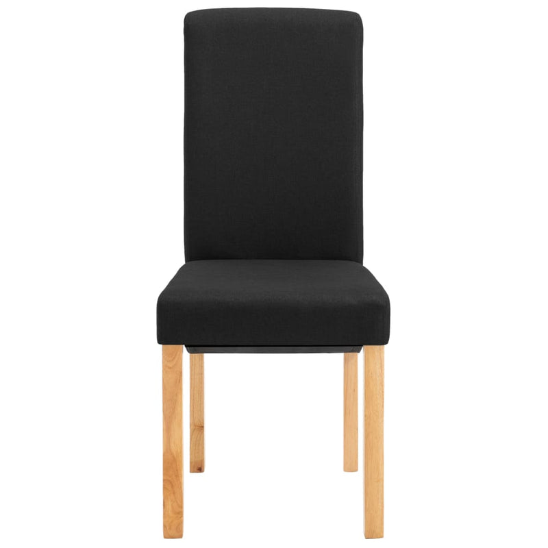 Dining Chairs 2 pcs Black Fabric