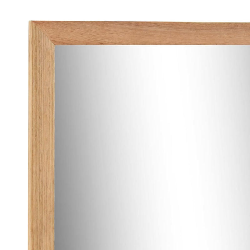 Sink Cabinet with Mirror Solid Walnut Wood