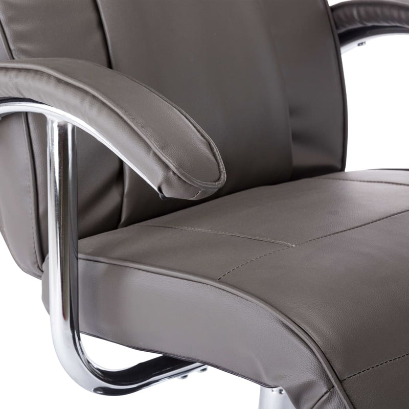 TV Armchair Grey Faux Leather