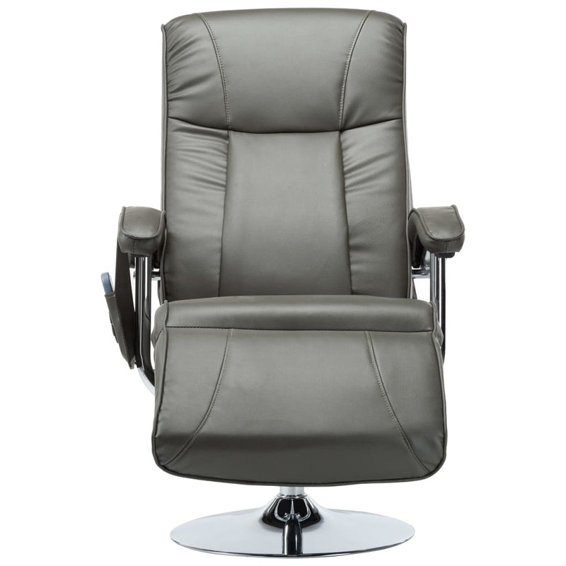 Massage Chair Cream Grey Faux Leather