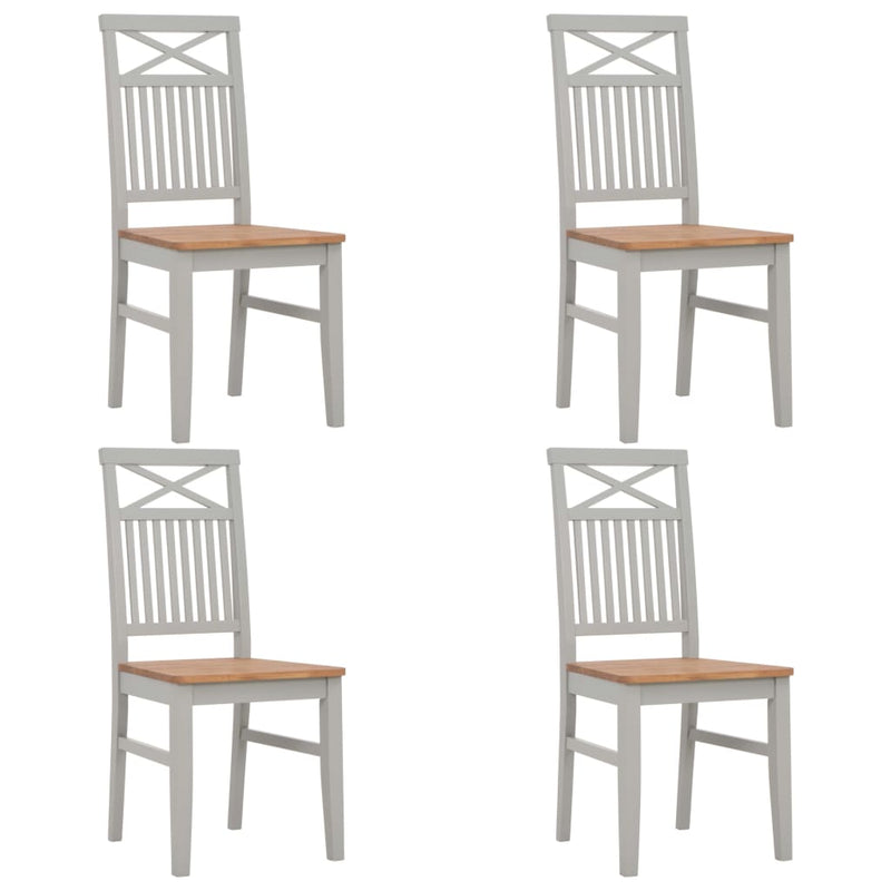 5 Piece Dining Set Solid Oak Wood