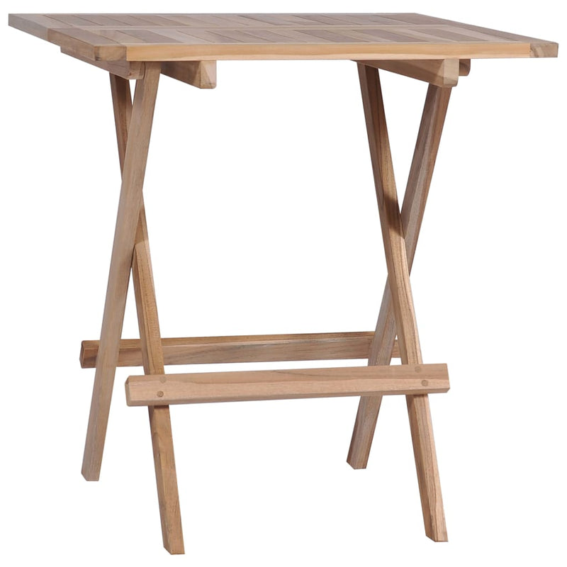 Folding Bistro Tables 2 pcs 60x60x65 cm Solid Teak