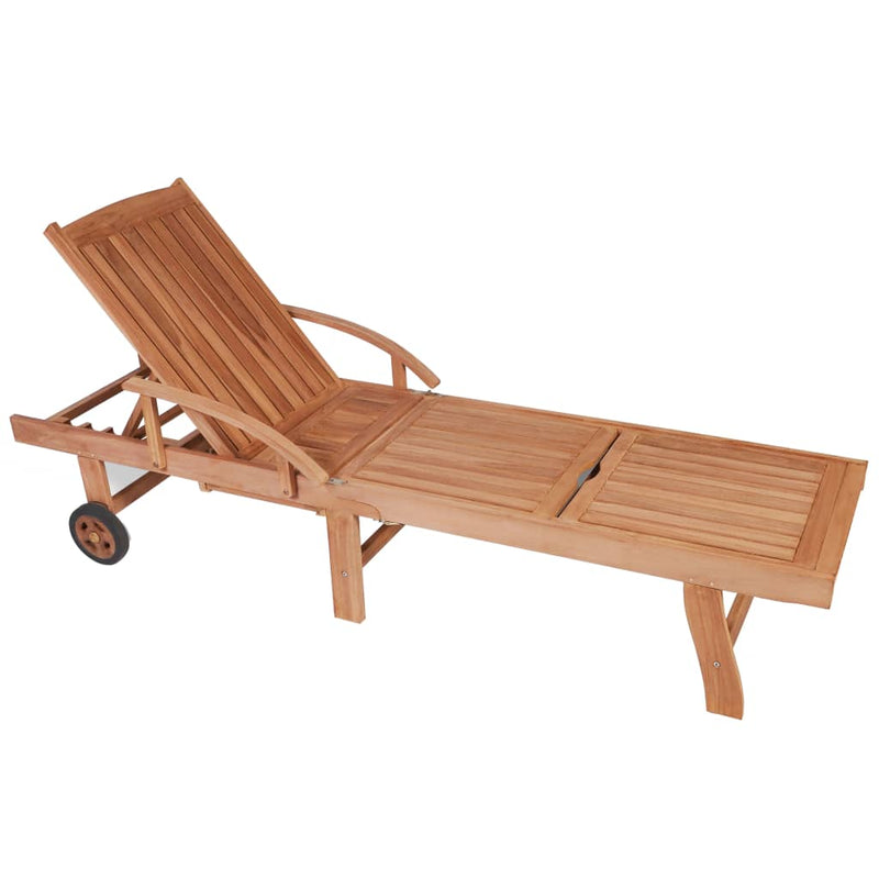Sun Loungers 2 pcs Solid Teak Wood
