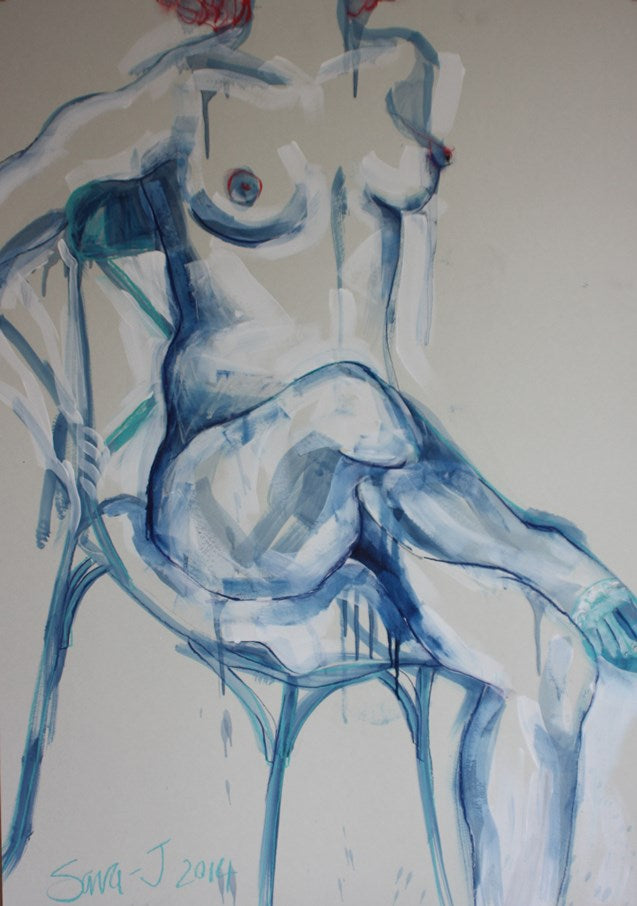 French Blue Chair I
