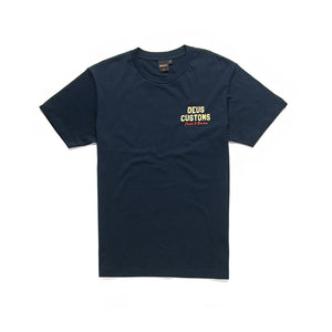 DEUS EX MACHINA BUSH MECHANICS TEE MIDNIGHT BLUE