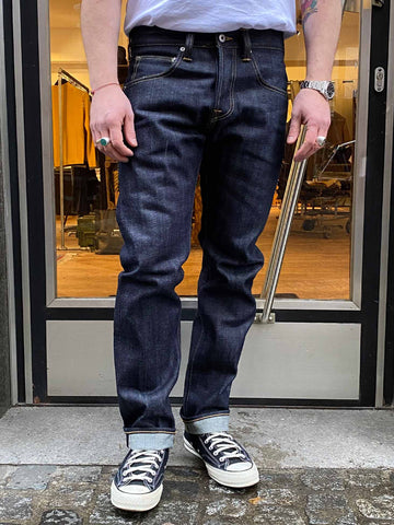 EDWIN ED-55 REGULAR TAPERED JEANS RED LISTED SELVAGE DENIM