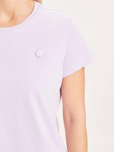 KNOWLEDGE COTTON DAMEN BASIC T-SHIRT PASTEL LILAC