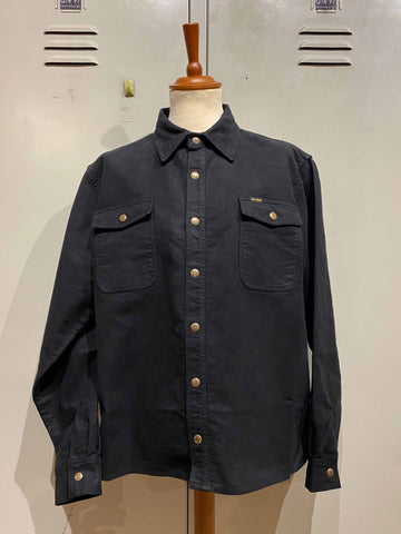 "PIKE BROTHERS ""1943 CPO SHIRT"" MOLESKIN SULPHUR BLACK"