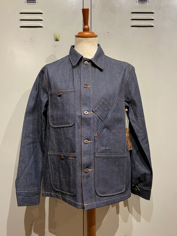TELLASON, COVERALL JACKET, SELVAGE DENIM, 12,5oz