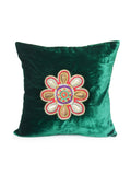 (Green)Sequence Work- Chenille Cushion Cover