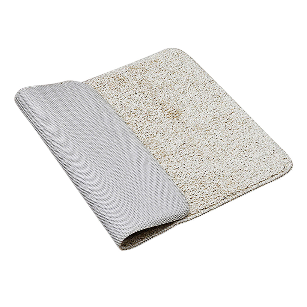(Beige) Plain Cotton Bath Door Mat(50 X 70 Cm )