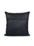 Geometrical(Multicolor)-Dupion Silk Cushion Cover(Black)
