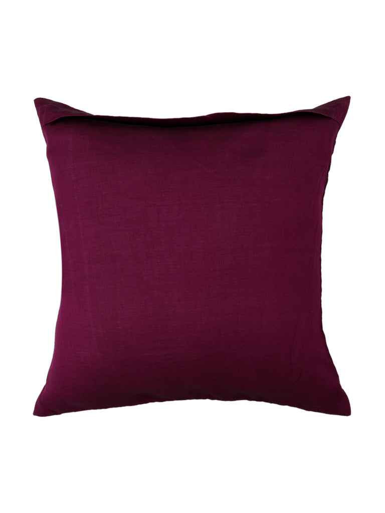 (Magenta)Sequence Work- Organza Cushion Cover