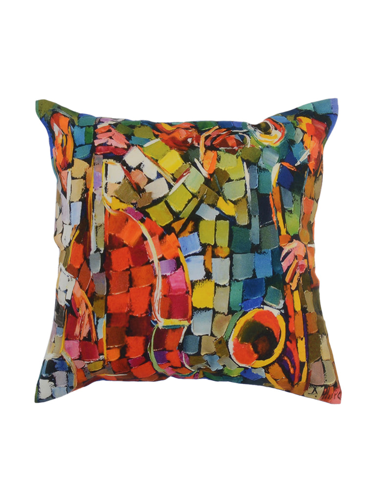Printed Multicolor Cushion Cover