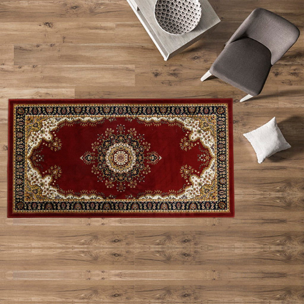 Bellagio- (Maroon) Traditional Synthetic Carpets(80 X 150 Cm)