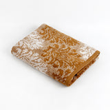 Floral Cotton Bath Towel(Mustard)27 X 54 Inch