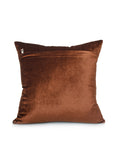 (Brown)Beads Work - Chenille Cushion Cover