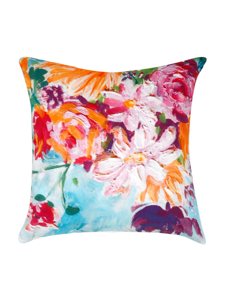 Floral printed-Cotton Cushion Cover(Multicolor)