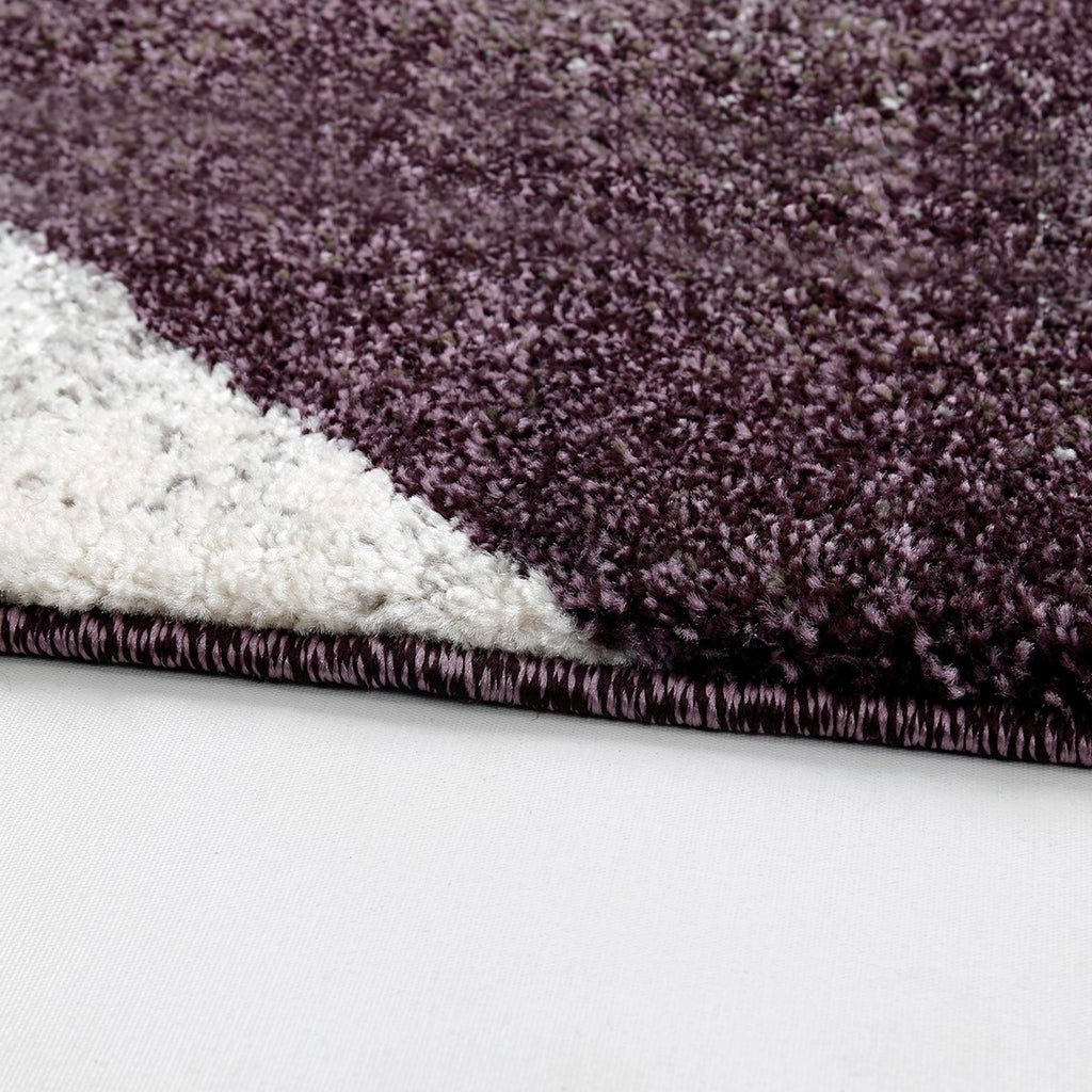 Softline- (Purple) Modern Synthetic Carpets(80 X 150 Cm)