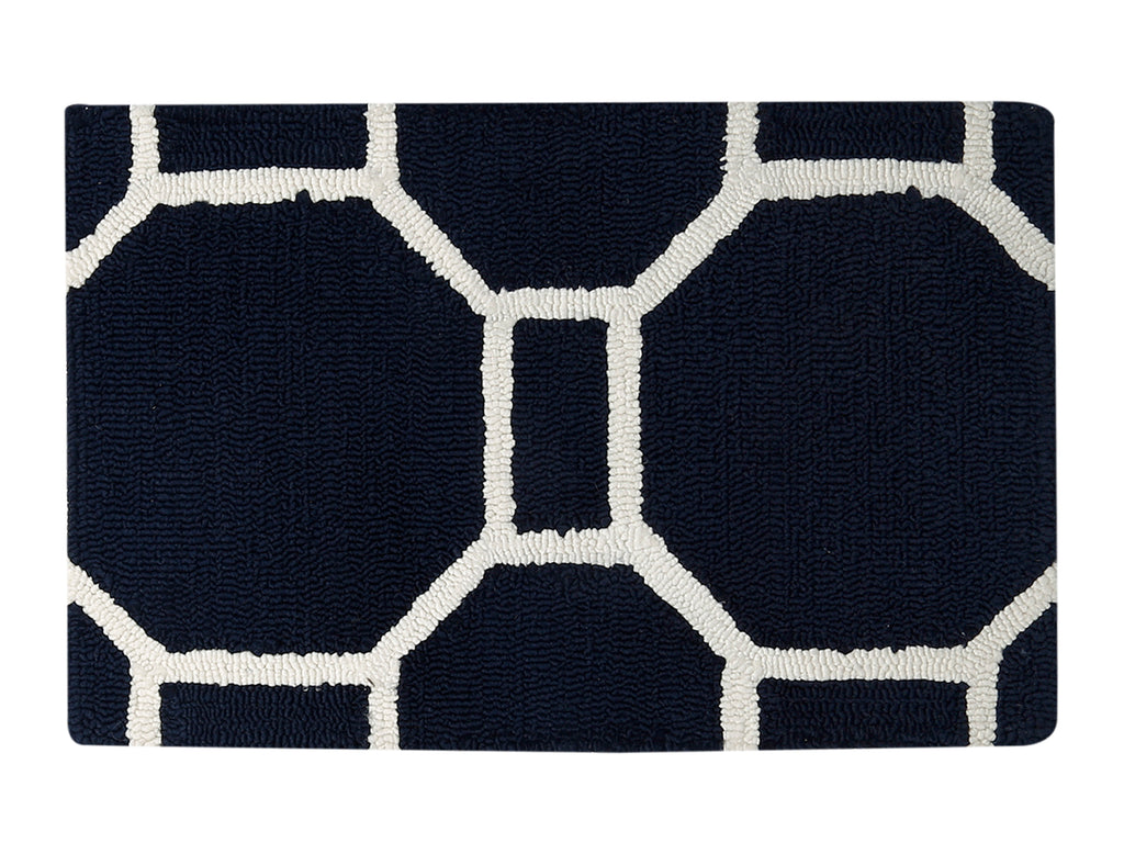 Azurra Hills- (Indigo) Modern Synthetic Indoor Mat(50 X 80 Cm )