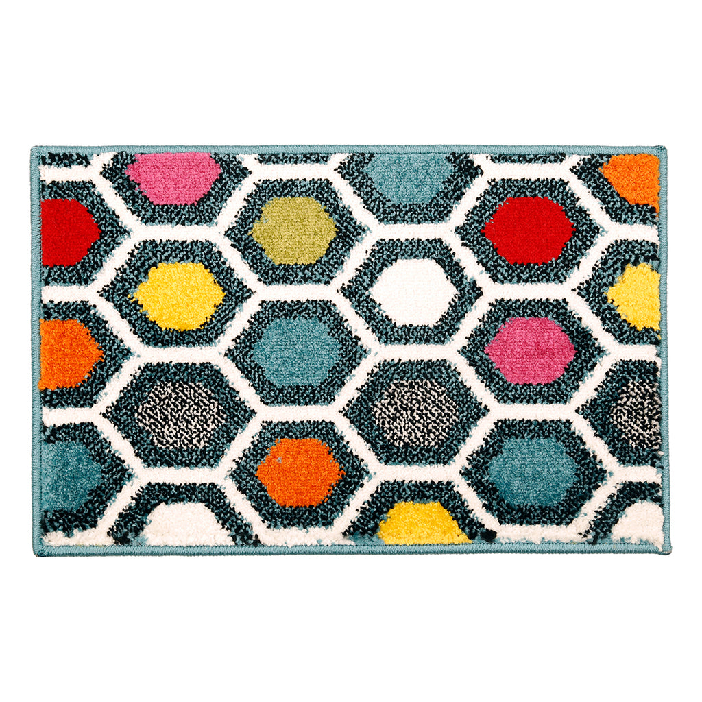 Marination- (Multi) Modern Synthetic Indoor Mat(40 X 60 Cm)