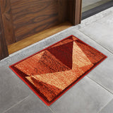 Carnation- (Burgundy) Modern Synthetic Indoor Mat(40 X 60 Cm)