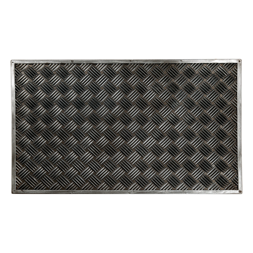 Sparrow Decor- (Black) Modern Rubber Outdoor Mat(18 X 30 Inch)